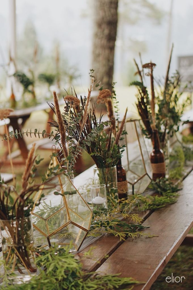 The Intimate Wedding between Two Haters of Fresh Flowers by Elior Design - 042