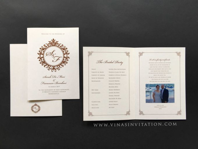Sarah & Fransesco - stationary by Vinas Invitation - 001