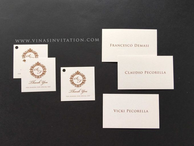 Sarah & Fransesco - stationary by Vinas Invitation - 002