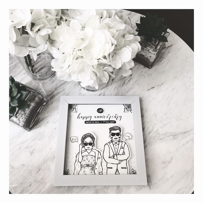 Couple Doodle Frame by #isayitwithdoodle | Bridestory.com