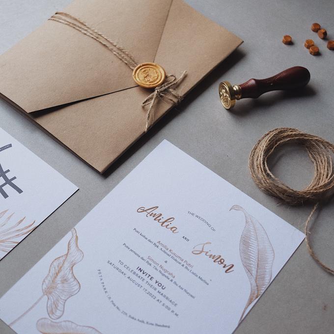 Wedding Invitation Amilia & Simon  by Sae Creative - 001