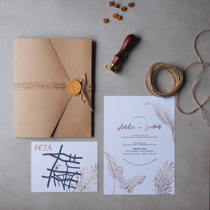 Wedding Invitation Amilia & Simon  by Sae Creative - 002
