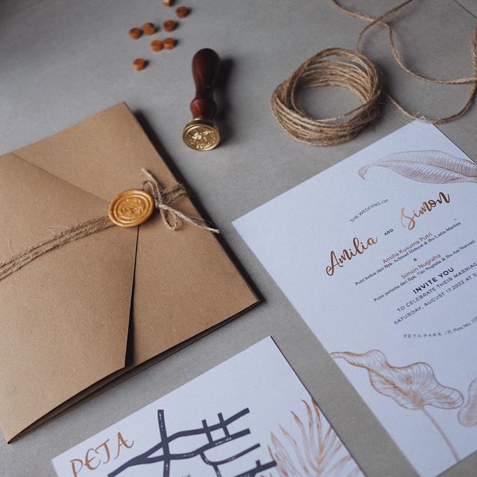 Wedding Invitation Amilia & Simon  by Sae Creative - 003
