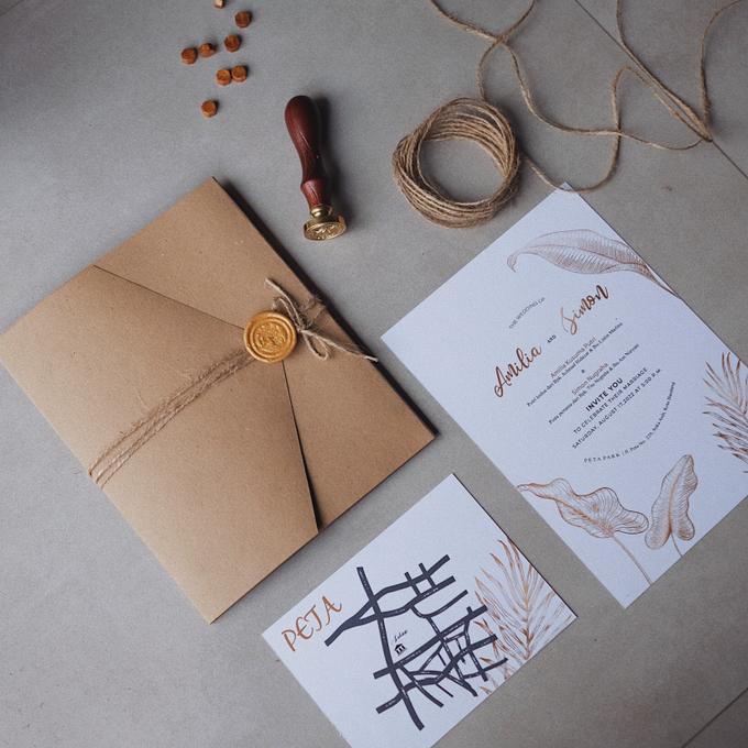 Wedding Invitation Amilia & Simon  by Sae Creative - 005