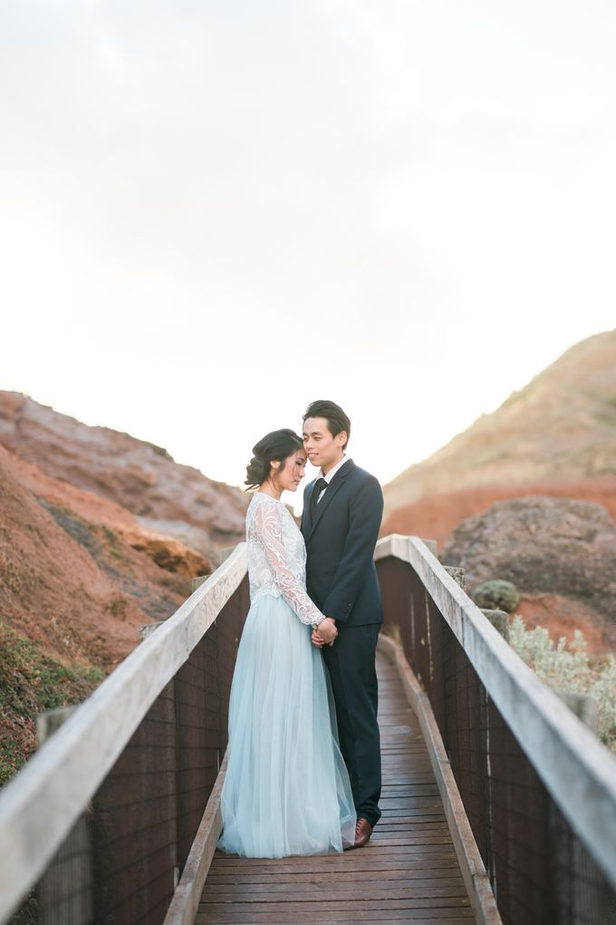Beach engagement by Lena Lim Photography - 006