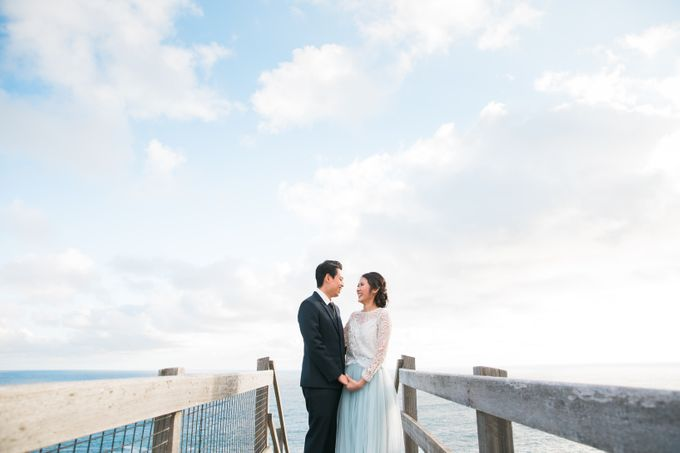 Beach engagement by Lena Lim Photography - 003
