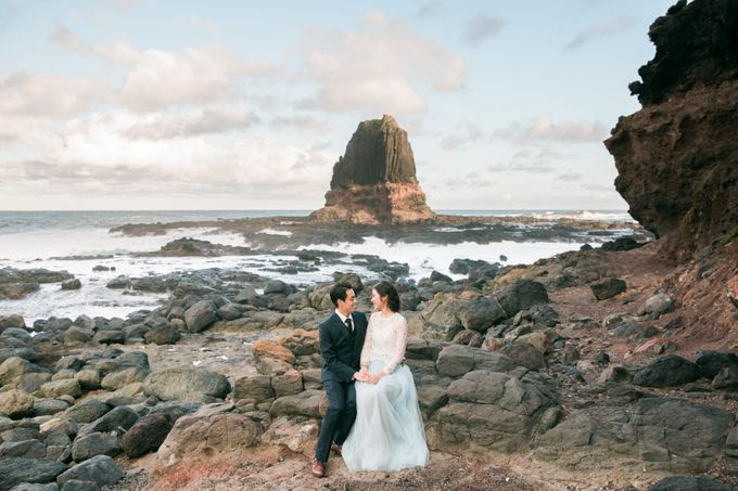 Beach engagement by Lena Lim Photography - 008