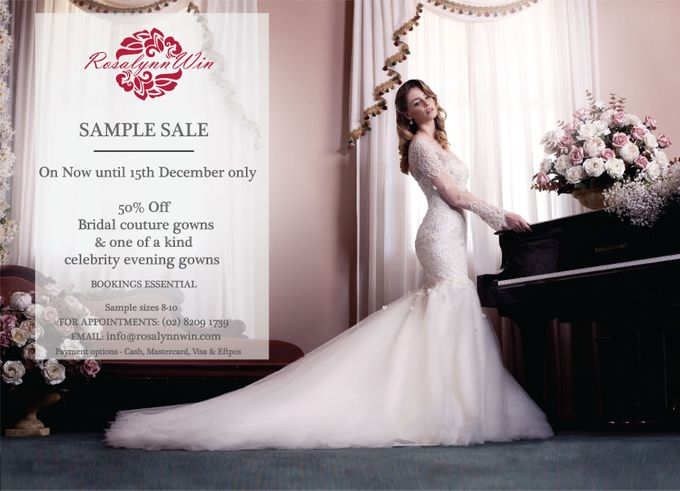 Sample Sale for Bridal Gowns by Rosalynn Win Haute Couture - 001