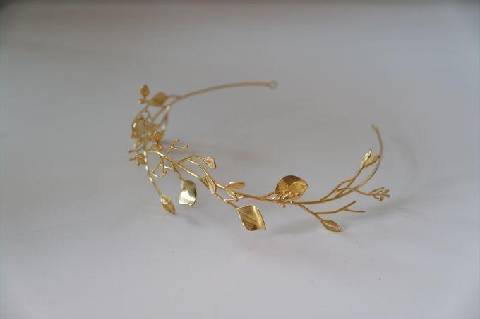 Gold Branching Olive Headband by ayyara - 006