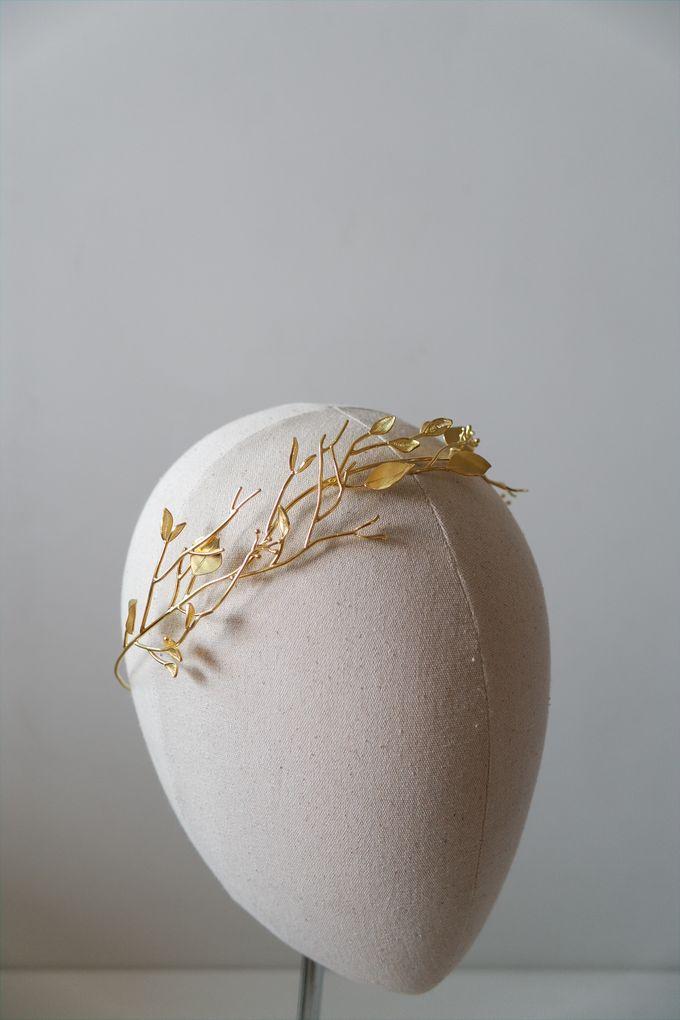 Gold Branching Olive Headband by ayyara - 005