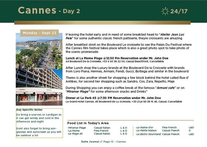 Sample Itinerary by Suite Journal - 012