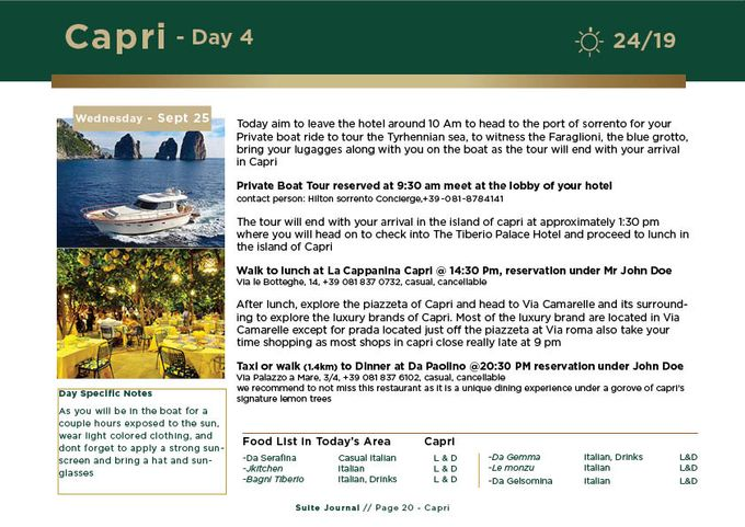 Sample Itinerary by Suite Journal - 020