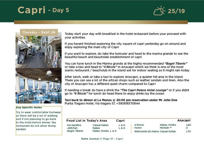 Sample Itinerary by Suite Journal - 021
