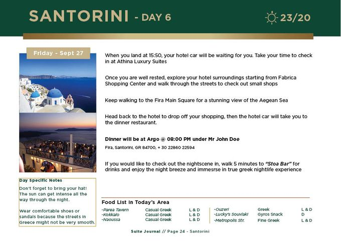 Sample Itinerary by Suite Journal - 025