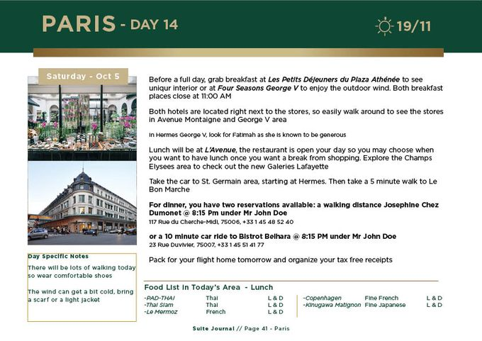 Sample Itinerary by Suite Journal - 042
