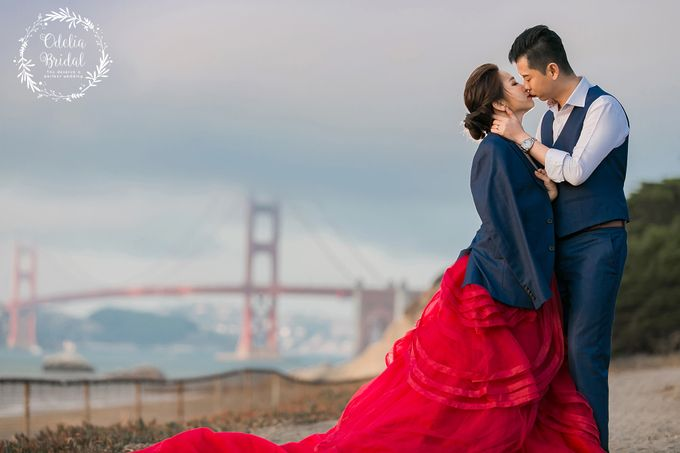 San Francisco pre wedding photography by Odelia Bridal - 013
