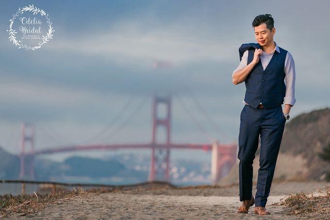 San Francisco pre wedding photography by Odelia Bridal - 014