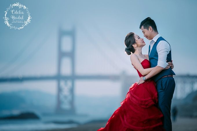 San Francisco pre wedding photography by Odelia Bridal - 016
