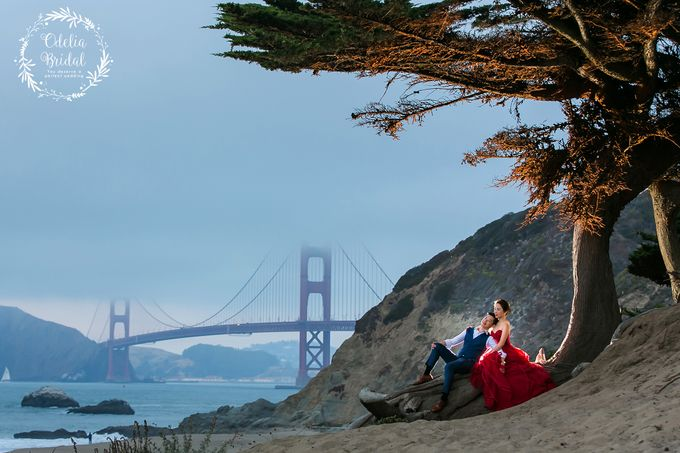 San Francisco pre wedding photography by Odelia Bridal - 017