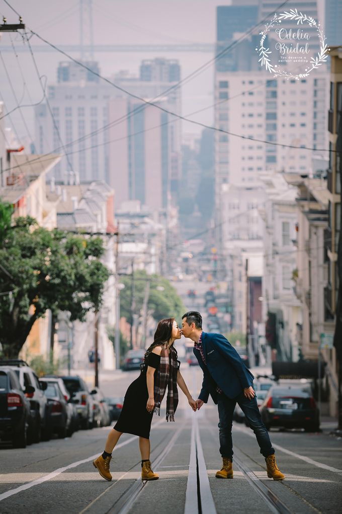 San Francisco pre wedding photography by Odelia Bridal - 004