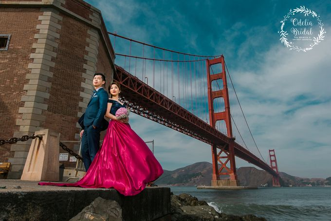 San Francisco pre wedding photography by Odelia Bridal - 006
