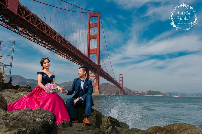San Francisco pre wedding photography by Odelia Bridal - 007