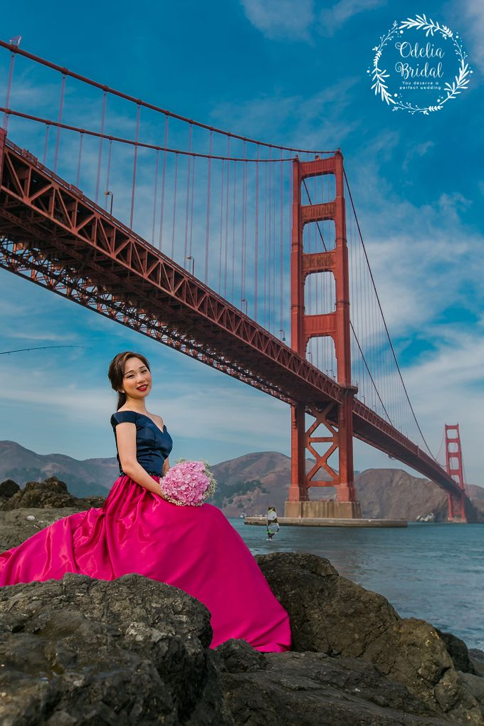 San Francisco pre wedding photography by Odelia Bridal - 008