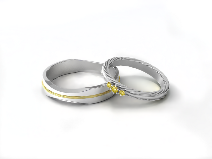 Arka wedding band by Reine - 001