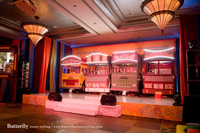 Sangeet Decoration by Butterfly Event Styling - 007