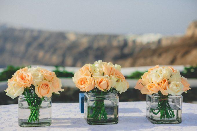 Romantic elegant wedding in Santorini by MarrymeinGreece - 010