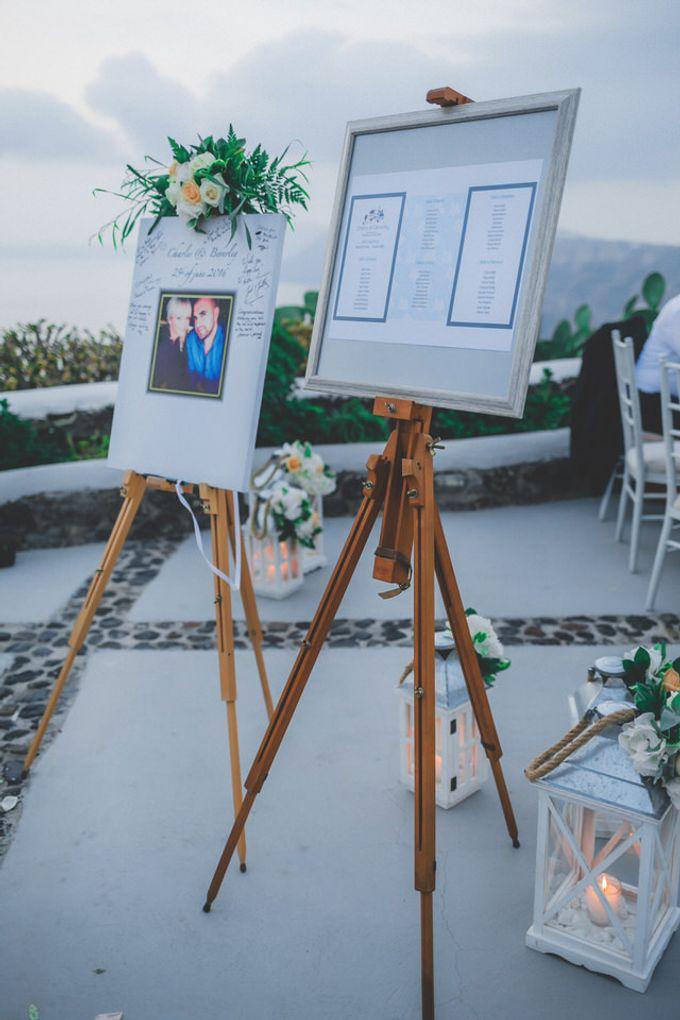 Romantic elegant wedding in Santorini by MarrymeinGreece - 013