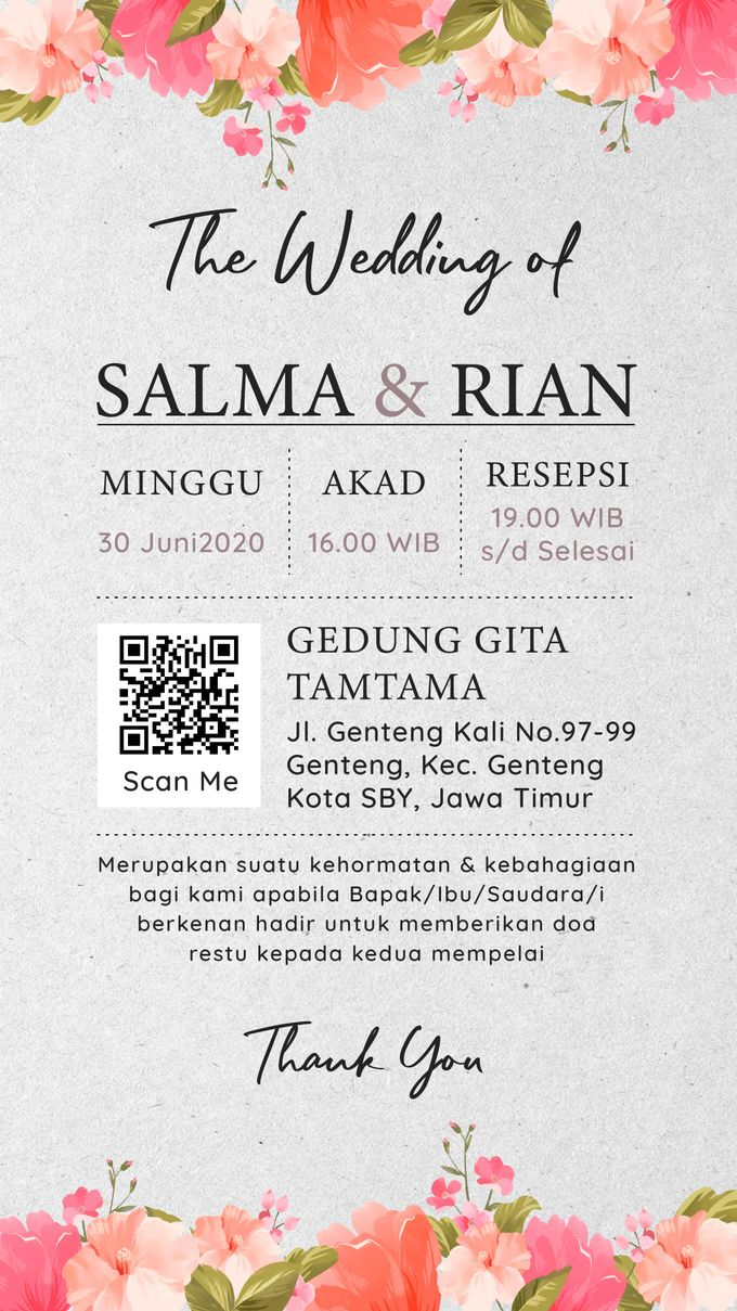 Undangan Grafis Salma & Rian by Sanone Project Digital / Electronic Invitation - 002