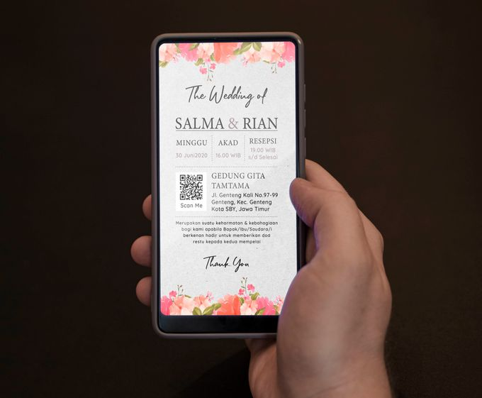 Undangan Grafis Salma & Rian by Sanone Project Digital / Electronic Invitation - 001