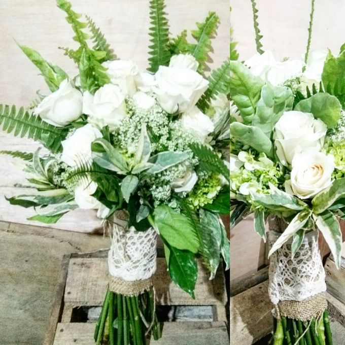 Chic & Rustic Garden Wedding In Green & White by magical blossoms - 015