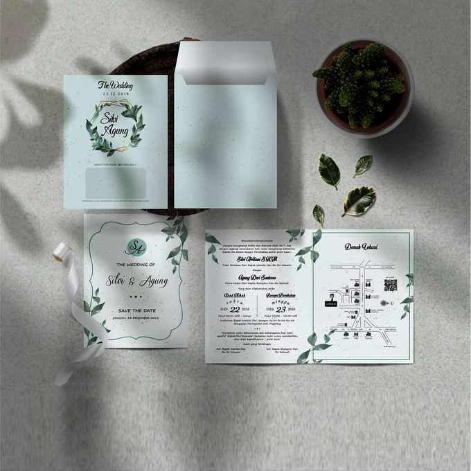 Softcover 2 Fold With Envelope by Bellva Invitation - 003