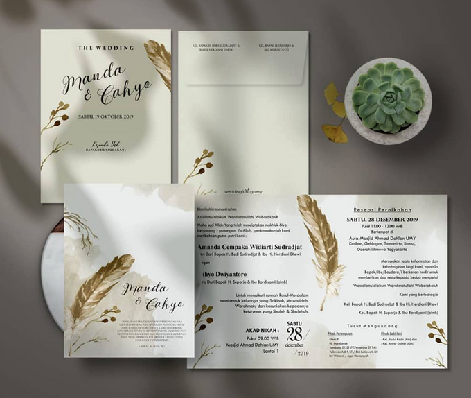 Softcover 2 Fold With Envelope by Bellva Invitation - 001