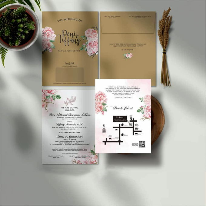 Single Softcover + Envelope  By Kenz by Bellva Invitation - 001
