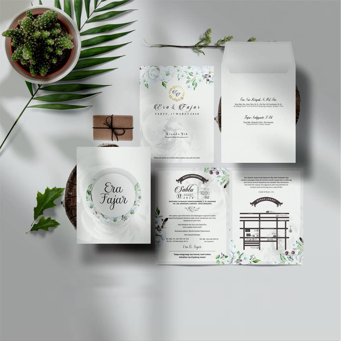 Softcover 2 Fold With Envelope by Bellva Invitation - 002