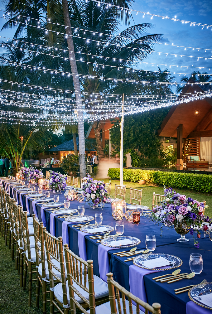 Purple Lilac  Navy and Gold wedding by Go Samui Catering - 004
