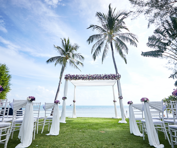Purple Lilac  Navy and Gold wedding by Go Samui Catering - 005