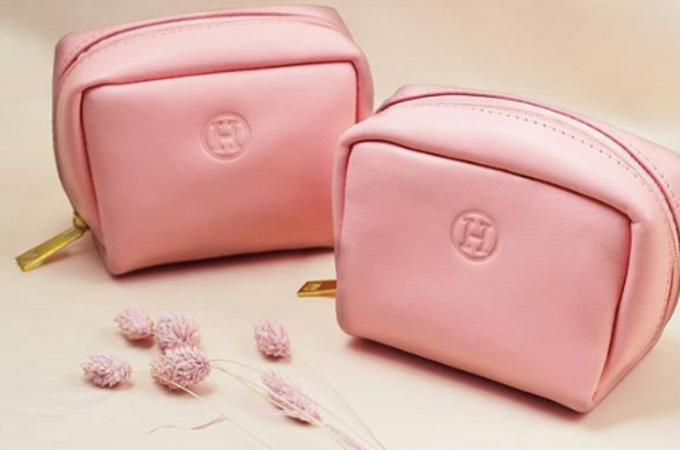 Helen -  Custom Pink Pouch by Rove Gift - 001