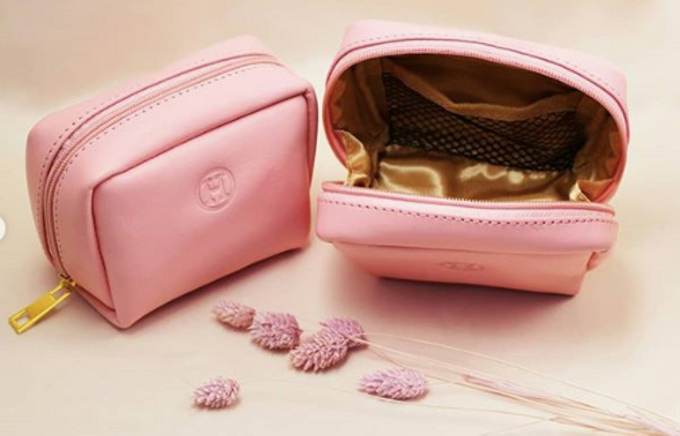 Helen -  Custom Pink Pouch by Rove Gift - 002
