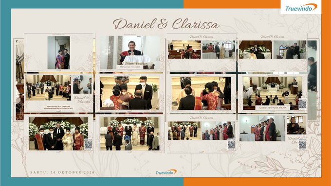 Daniel & Clarissa Virtual Online Wedding Live Streaming Holy Matrimony by Truevindo - 001