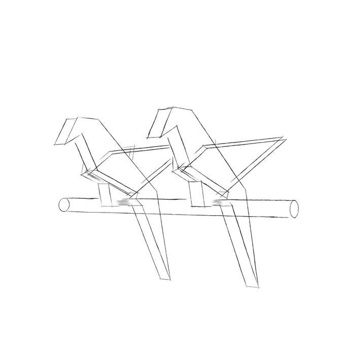 Crane Bird Ringbox by NINbox.box - 001