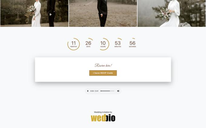 Thomas & Vivien - Bronze Package by Wedbio.com - elegant wedding website & online rsvp - 003