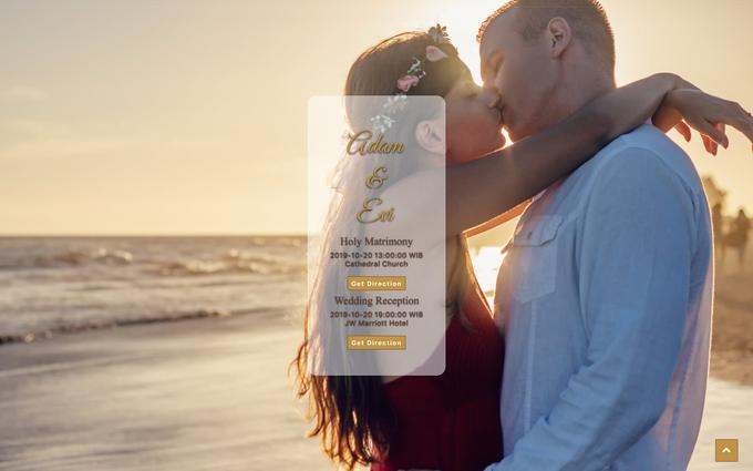 Adam & Evi - Gold Package by Wedbio.com - elegant wedding website & online rsvp - 001