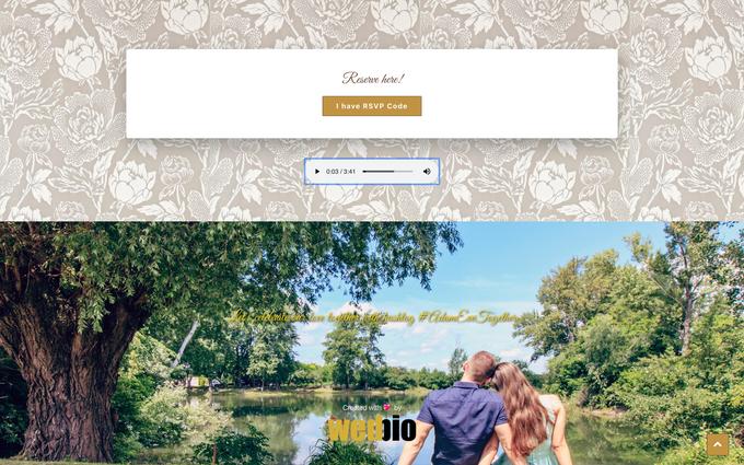 Adam & Evi - Gold Package by Wedbio.com - elegant wedding website & online rsvp - 003