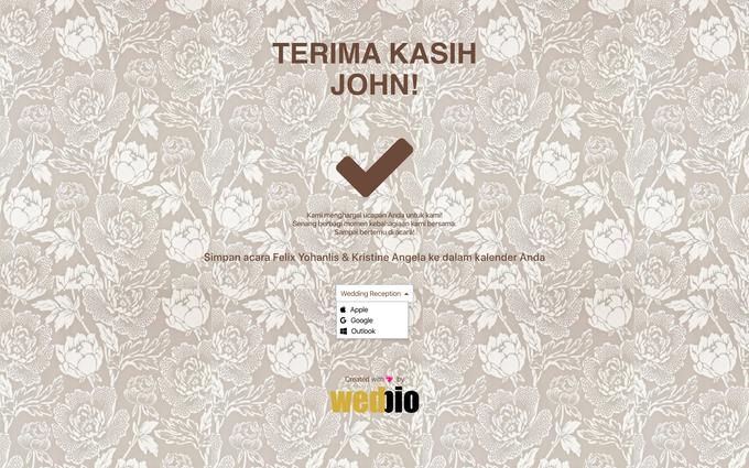 Guest Attendance Workflow by Wedbio.com - elegant wedding website & online rsvp - 001