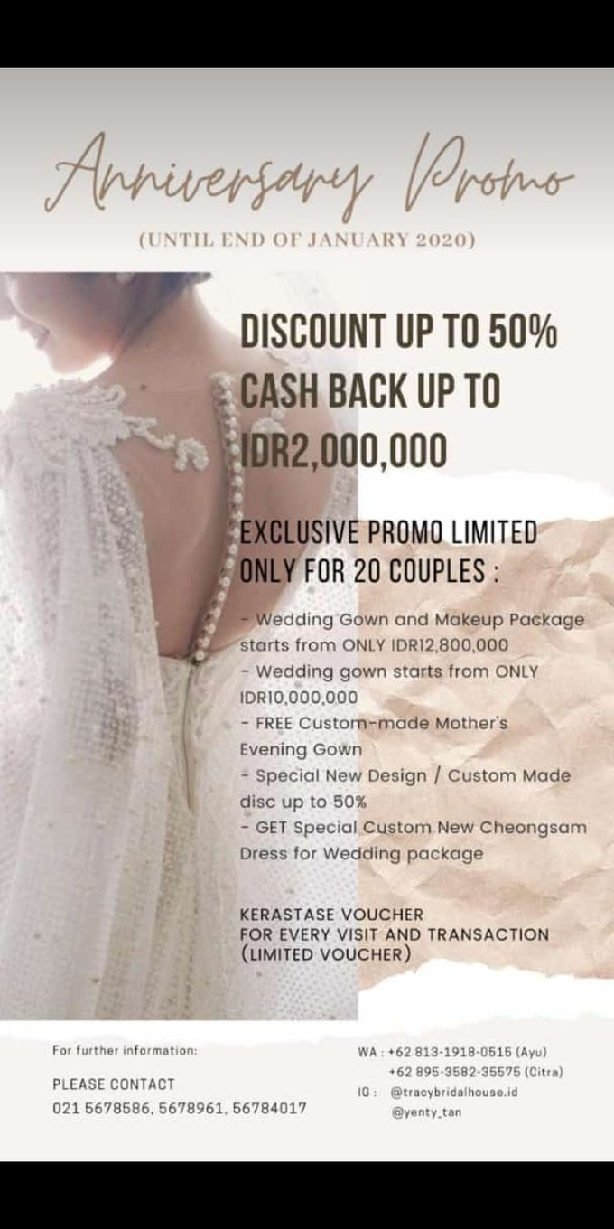 Promo Anniversary Tracy Bridal House by Tracy Bridal House - 001