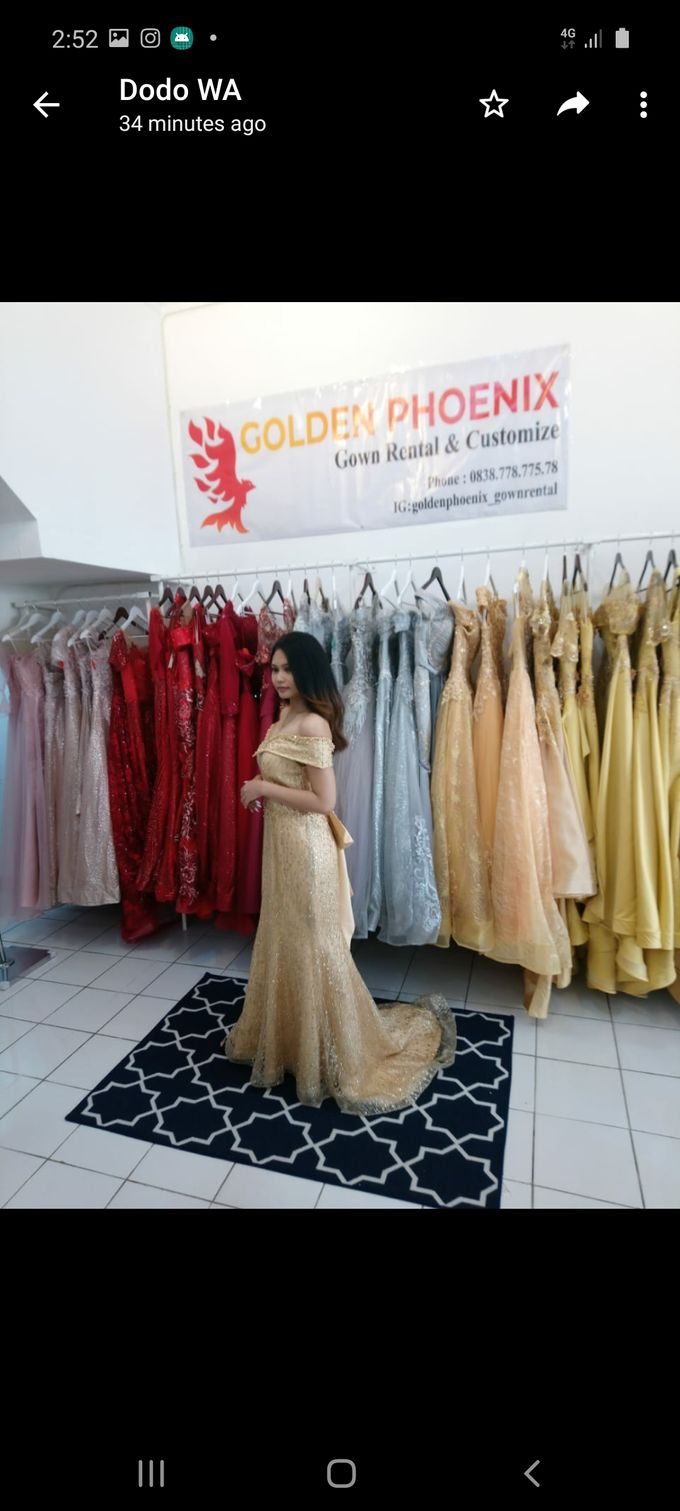 Sewa Gaun Dress Mama Sister Prewedding by Golden Phoenix Rent Gown - 016